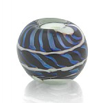 "Fokalperle ""Blue Heaven"" - Echtes Murano Glas, Sterlingsilber"